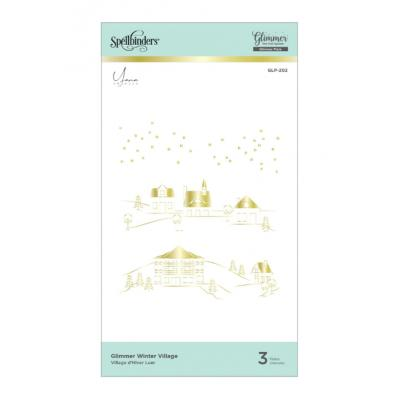 Spellbinders Glimmer Hot Foil Plates - Glimmer Winter Village